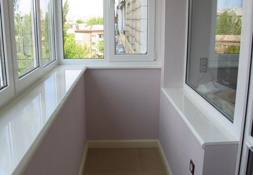 Тёплый балкон ПВХ с профилем Novotex, подоконник Danke немецкого производства
